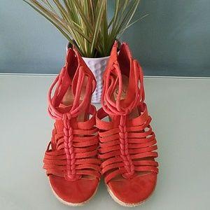 Dolce Vita Orange Wedge Sandals